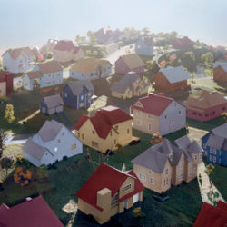 Landscape with Houses #1 (Dutchess Country, NY), 2009, © James Casebere. Cortesía: IVAM.